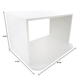 Suporte Nicho para Forno Microondas até 38 Litros MDF Branco 60x40x47cm