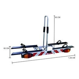 Suporte para Transporte de Bicicletas Transbike com Canaleta e Sinalizador Altmayer AL-242
