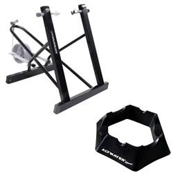 Suporte Rolo de Treinamento Bicicleta AL-04 + Base Niveladora AL318 Altmayer