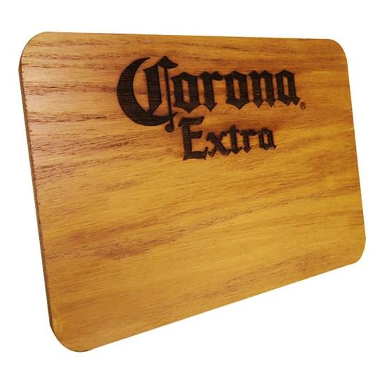 Tábua de Madeira Corona Extra 24,5 x 17,5 cm Personalizada
