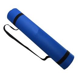 Tapete Pilates Yoga Mat Acte Em Eva Azul Royal com Alças