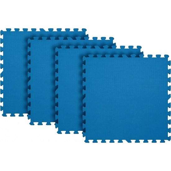 Tapete Tatame para Exercícios EVA 4 Peças Azul - MOR