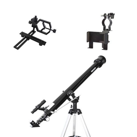 Telescópio Azimutal 900mm Greika + 2 Adaptadores de Câmeras e Smartphone
