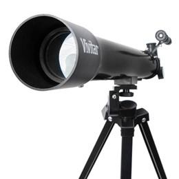 Telescópio c/ Ampliação 75x / 150x, Ocular, Manopla e Tripé - VIVITAR VIVTEL150X