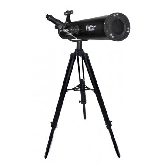 Telescópio Refletor com Lente 76 mm, Ampliação 525x e Tripé - VIVITAR VIVTEL76700