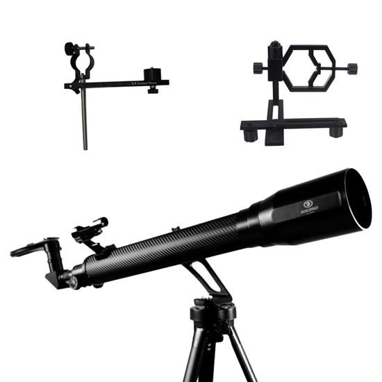 Telescópio Refrator Azimutal 700mm Greika + Adaptadores de Câmeras Fotográficas