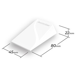 Trava Porta de Borracha Branco ComfortDoor para Qualquer Piso e Vãos de 2mm