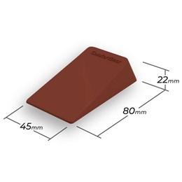 Trava Porta de Borracha Marrom ComfortDoor para Qualquer Piso e Vãos de 2mm
